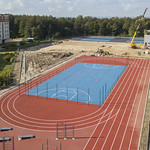 Liepājas tenisa halles būvniecības gaita