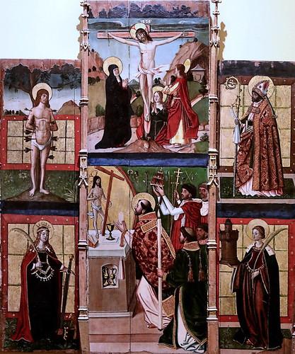 IMG_8411 Maestro  de Paredes de Nava 16è siècle Retable de la Messe de Saint Grégoire Altarpiece of the Mass of Saint Gregory. Museo Santa Cruz  Toledo