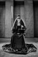 Justice (Charlotte Desruelles) Tags: tarot witchcraft avantgarde fashion minimalism monochrome blackandwhite justice