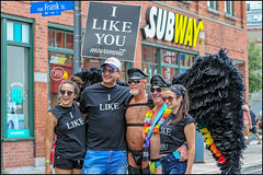 I Like Movement (Dan Dewan) Tags: 2018 canonef70200mmf14lisusm dandewan bankstreet gay people person canon portrait colour girl hat man ottawa summer sunday street pride woman august ontario canada glasses ottawapride centretown lady