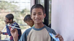 Aeroplane fun III (#Weybridge Photographer) Tags: canon 5d mk ii mkii sl dslr eos adobe lightroom nepal asia kathmandu orphanage orphan child children boy polystyrene aeroplane airplan plane toy fun