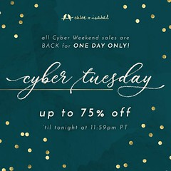 All Cyber Weekend Sales + Up To 75% Off Are Back For ONE DAY ONLY. Shop Cyber Tuesday Deals Up Until Midnight Tonight At: www.chloeandisabel.com/boutique/thecelticpearl   #CyberWeekend #CyberTuesday #CyberSale #Sale #OneDayOnly #LimitedTime #Save #Deals # (thecelticpearl) Tags: sale trending christmas shop trend buy lifetime guarantee deals discounts chloeandisabel trendy trends gifts shopping jewelry cybersale holiday2k18 cybertuesday stockingstuffers boutique onedayonly accessories thecelticpearl gift holiday candi online save style cyberweekend limitedtime presents fashion