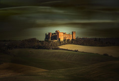 Castello. (Enzo Ghignoni) Tags: castello colline campi luce piante alberi colori tuscany italy