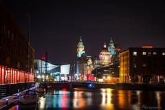 Albert Dock Reflections (ParrPhotography) Tags: albertdock albert reflections liverpool liverbirds pierhead nighttime