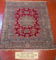 1332 SHL Kerman, 386x 297, 11.46 (Persian Rugs UK) Tags: 1146 1332 386x297 9590 kerman loc medallion persian shl