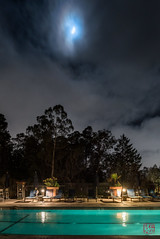 Moonlit Pool (Mitymous) Tags: california chaminade clouds longexposure night santacruz stars travel trees winter20189
