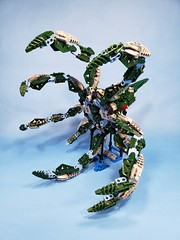 Channel Squid (TuragaNuva) Tags: lego bionicle moc water squid green blue silver tentacles sea ocean