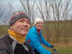 Me and Sarah (alasdair massie) Tags: bikecycle january bicycle ride cyclist me sarah