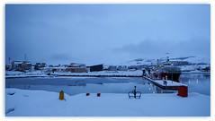 eisig kalt und viel Schnee (Körnchen59) Tags: schnee snow water kalt blauestunde akureyri island körnchen59 elke körner sony5000 hafen harbor