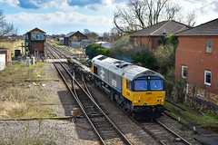 66789 4H07 Whitemoor Yard to Peterborough Maintenance Shed March (11.22) 09.03.19 (TRz) (TRphotography04) Tags: br large logo gb railfreightgbrf 66789 british rail 1948 1997 departs march with 4h07 1008 whitemoor yard ldc gbrf peterboro maint shed consisting fea flat wagons pair 630030 630031