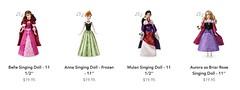 2019 Singing Princess Dolls - US Disney Store - Release 2019-01-14 - Product Listing (drj1828) Tags: 2019 disneystore singing purchase 12inch aurora princess anna belle briarrose mulan release online us