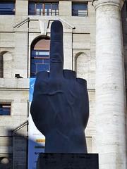 Milano (1) (pensivelaw1) Tags: italy milan statues trump starbucks romanruins thefinger trams cakes architecture