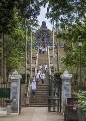 Borubudur (Hans van der Boom) Tags: vacation holiday asia indonesia indonesië java borubudur candi temple stupa buddha buddhist stairs steps people id