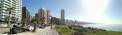 Beirut... (essam_haffar) Tags: lebanon beirut ramlehalbayda outdoor cities horizontal horizon water bluesky sky buildings sand sun sunlight sunnyday green