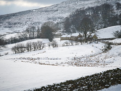 Bank Farm Snow (Hector Patrick) Tags: britnatparks capture1pro flickrelite pentaxdfa28105 pentaxk1 yorkshire northyorkshire rosedale pentax frozen winter snow farming sheep flickr countryside