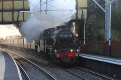 LMS Stanier 5MT No. 45212 & 45157 'The Glasgow Highlander'  with WCRC 1Z50 'The Citadel' running through Lostock Junction station on 10th November 2018 © (steamdriver12) Tags: smoke steam coal oil mainline preservation heritage england autumn lms stanier 5mt no 45212 45407 west coast railway company wcrc 1z50 the citadel lostock junction station 10th november 2018 lancashire 45157 glasgow highlander
