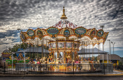 A Carousel (donnieking1811) Tags: missouri branson carousel outdoors sky clouds hdr canon 60d lightroom photomatixpro