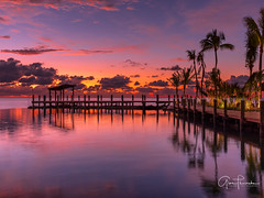 Postcard From Paradise (Thüncher Photography) Tags: fujifilm fuji gfx50s fujigfx50s gf3264mmf4rlmwr mediumformat scenic landscape waterscape nature outdoors sky clouds colors reflections sunrise tropical island palmtrees dock pier oceanscape islamorada floridakeys florida southflorida