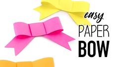 Easy DIY Paper Bow Tutorial - Paper Kawaii (paperkawaii) Tags: origami instructions paperkawaii papercraft diy how video youtube tutorial