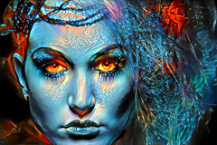 Eyes of Fire (Eclectic Jack) Tags: post process processing processed deep dream generator artistic art modified software topten
