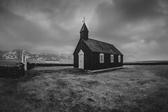 Black church at Buðir. (again) (Caledonia84) Tags: iceland sony a6000 a7ii icelandic landscape reykjavik church fisheye black drama 16mm