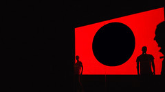 "20,071 ""empire of the dot"" (Panda1339) Tags: shadow cinematic abstract streetphotography dot light circle man minimalism silhouette london ldn black red 28mm uk minimal"