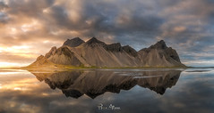 Chocolate Mountains (Perez Alonso Photography) Tags: iceland sunset stokksnes beach waves sea ocean fjords mountains landscapes reflection clouds