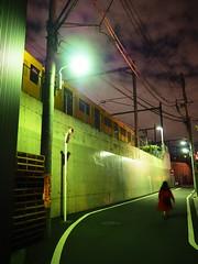 Tokyo (Meg Kamiya) Tags: tokyo japan night light colour city olympus omd em10 train