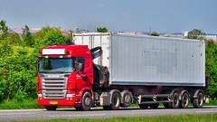 AG78600 (13.05.27)_Balancer (Lav Ulv) Tags: 134759 elunolsen r500 v8 2005 red highline euro3 e3 6x2 r5 container scania rseries pgrseries scaniarseries truck truckphoto truckspotter traffic trafik verkehr cabover street road strasse vej commercialvehicles erhvervskøretøjer danmark denmark dänemark danishhauliers danskefirmaer danskevognmænd vehicle køretøj aarhus lkw lastbil lastvogn camion vehicule coe danemark danimarca lorry autocarra danoise vrachtwagen motorway autobahn motorvej vibyj highway hiway autostrada trækker hauler zugmaschine tractorunit tractor artic articulated semi sattelzug auflieger trailer sattelschlepper vogntog oplegger sættevogn