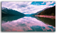 In nature..light creates the color. In picture..color creates the light! (FotographyKS!) Tags: nature hills mountain water reflection mountains travel river serene nikondigital nikkor kreative composition perspective hanshofmann canada britishcolumbia