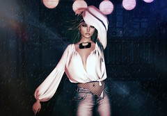 Back alley ... Not my life (Zoey Lynne) Tags: secondlife portrait alley rain