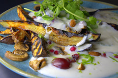Grilled Aubergine with Coconut Yogurt & Nuts (Tony Worrall) Tags: add tag ©2018tonyworrall images photos photograff things uk england food foodie grub eat eaten taste tasty cook cooked iatethis foodporn foodpictures picturesoffood dish dishes menu plate plated made ingrediants nice flavour foodophile x yummy make tasted meal nutritional freshtaste foodstuff cuisine nourishment nutriments provisions ration refreshment store sustenance fare foodstuffs meals snacks bites chow cookery diet eatable fodder