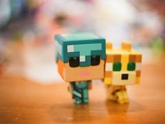 Alex and her Ocelot (Kelson) Tags: toys minecraft popfunko alex ocelot scanned