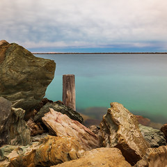 Cool Change (BTAdelaide) Tags: landscape landscapephotography landscapes canon beautiful beach water sunset seascape southaustralia australia adelaide rocks harbour