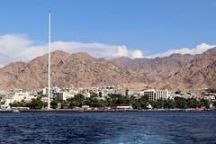 Jordan Aqaba (rolfij) Tags: jordan aqaba flagpole redsea