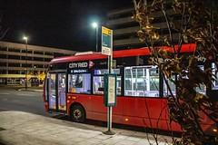 To the city (mangopearuk) Tags: uk unitedkingdom england hampshire southampton publictransport transit publictransit bus buses doubledecker blue road sky people night dark