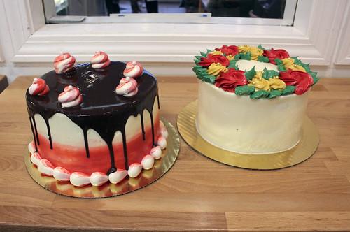 Peppermint Oblivion Gourmet Cake, Christmas Wreath Gourmet Cake
