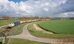 203103_Lage-Zwaluwe_170319 (florisdeleeuw) Tags: 51018 segrate captrain v100 containertrein moerdijk stamlijn overweg