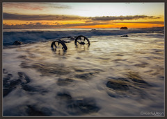Wheels of Time (peterwilson71) Tags: abandoned clouds canon6d daybreak decay exposure reflections flow horizon high industrial industry sky longexposure landscape light motion northeast outdoors ocean sea travel sunrise water seaham