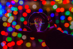 Shine Bright Like A Diamond (AngelBeil) Tags: chesapeakebeachmaryland lightupthetown bokeh lensball maryland christmastree