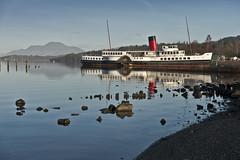 Maid Of The Loch (Romeo Mike Charlie) Tags: lochlomond paddlesteamer ship maidoftheloch water lake mountain benlomond balloch trossochs nationalpark scotland