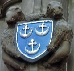 Blue escutcheon (Will S.) Tags: coatofarms escutcheon mypics paisleyabbey paisley abbey scotland churchofscotland presbyterian church churches unitedkingdom protestant christian christianity presbyterianism protestantism reformed sanctus holy