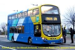 Route 17A, Blanchardstown Shopping Centre to Kilbarrack. Go-Ahead (Ireland), 11550, January 2019 (Shamrock 105) Tags: dublin dublinbus goahead goaheadireland blanchardstown kilbarrack volvo volvob5tl wrightbus ballymount