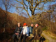 Merry, Ulla, me & Dad, Glasdrum National Nature Reserve (Niall Corbet) Tags: scotland argyll nnr nationalnaturereserve glasdrum