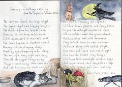 Cottage Evening (Hornbeam Arts) Tags: clare poem beetle dog fairy