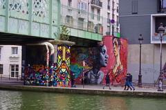 54 Paris décembre 2018 - au bout du Bassin de La Villette (paspog) Tags: paris france décembre december dezember 2018 bassindelavillette graffitis tags streetart mural murals fresque fresques