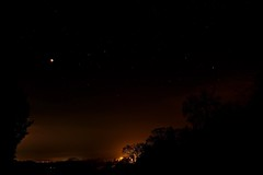 Eclipse Over Mist (Deepgreen2009) Tags: moon lunar eclipse sky night dark stars mist lighting road glow celestial red totality super wolf
