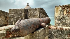 Disarmed (seventh_sense) Tags: abandoned fort cannon cannons stone deserted derelict decay rust rusty rusted iron ocean sea old san juan puerto rico castillo cristobal el morro castle