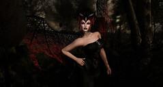 Halloween Bad (Renascentia11) Tags: halloween costume bat vampire black solo portrait
