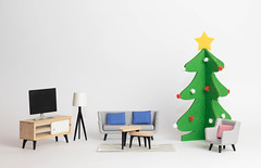 Sofa beside a Christmas tree (wuestenigel) Tags: sofa holidays interior forniture television home xmas christmas livingroom tv furniture möbel room zimmer chair stuhl seat sitz indoors drinnen contemporary zeitgenössisch table tabelle noperson keineperson interiordesign innenarchitektur business geschäft family familie inside innerhalb illustration lamp lampe apartment wohnung decoration dekoration desktop modern office büro light licht